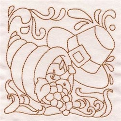 Thanksgiving Quilt embroidery design