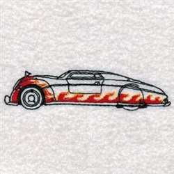 Hot Rods Car embroidery design