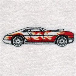 Hot Rod Car   embroidery design
