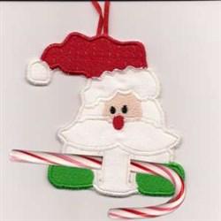 Candy Cane Santa embroidery design