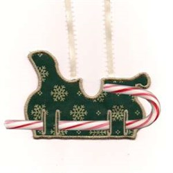 Candy Cane Sleigh embroidery design