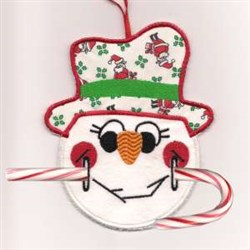 Candy Cane Snowman embroidery design