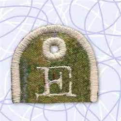 Alphabet Tag E embroidery design