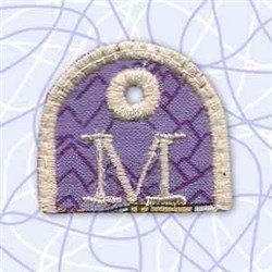 Alphabet Tag M embroidery design