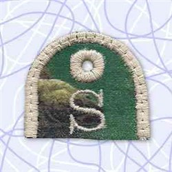 Alphabet Tag S embroidery design