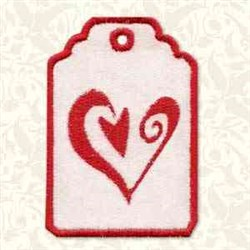 Heart Tag embroidery design