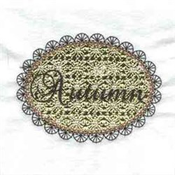 Lacy Leaves Autumn embroidery design