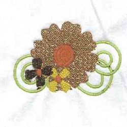Lacy Leaves Flower   embroidery design