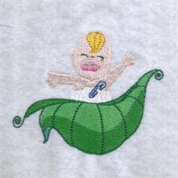 Baby In Leaf  embroidery design