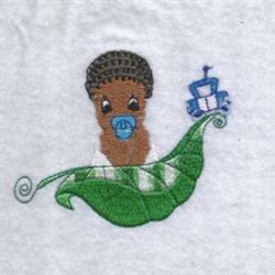 Leaf Baby embroidery design