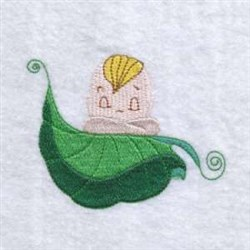 Leaf Child embroidery design