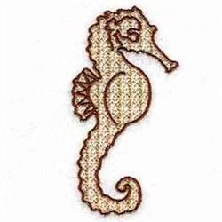Seahorse Fish embroidery design