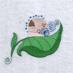 Baby Plant Leaf embroidery design