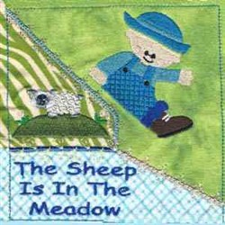Little Boy Blue Quilt embroidery design