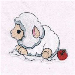 Cute Baby Sheep embroidery design