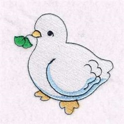 Christmas Dove embroidery design