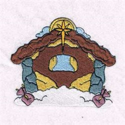 Manger Nativity Scene embroidery design