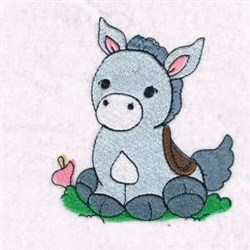 Donkey Nativity Scene embroidery design