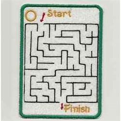 Halloween Maze embroidery design