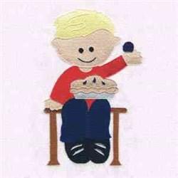 Little Jack Horner Pie embroidery design