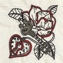 Love Is The Key embroidery design