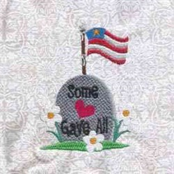 Memorial Day Flag embroidery design