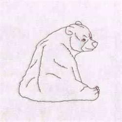 Blackwork Bear embroidery design