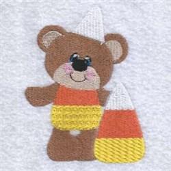 Halloween Candy Corn Teddy embroidery design
