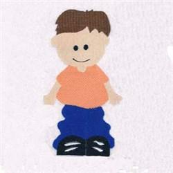 Nursery Rhyme Boy embroidery design