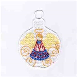 XMas Angel Ornament embroidery design