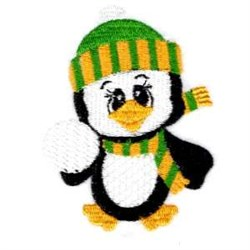 Baby Penguin embroidery design