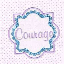 Courage Pink Block embroidery design