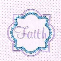 Faith Pink Block embroidery design