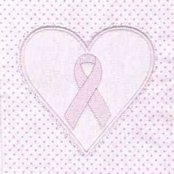 Pink Cancer Ribbon embroidery design