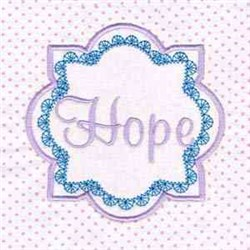 Hope Cancer  embroidery design