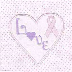 Love Cancer Ribbon embroidery design