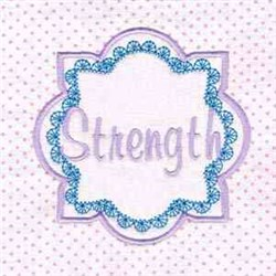 Pink Block Strength embroidery design