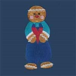 Gingerbread Man Valentine embroidery design