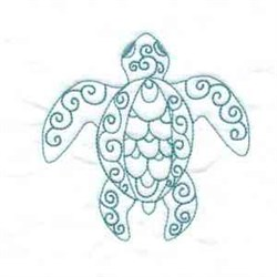 Turtle Bluework embroidery design
