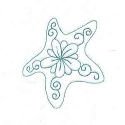 Starfish Bluework embroidery design