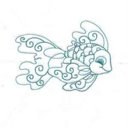 Bluework Exotic Fish embroidery design