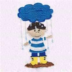 Rain Rain Go Away embroidery design