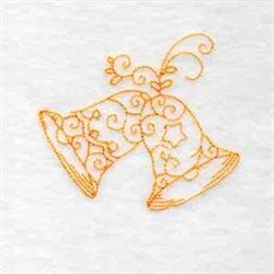 Redwork Xmas Bells embroidery design