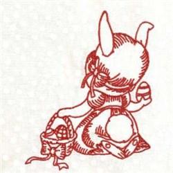 Redwork Egg Hunt embroidery design