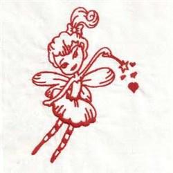 Redwork Angel embroidery design