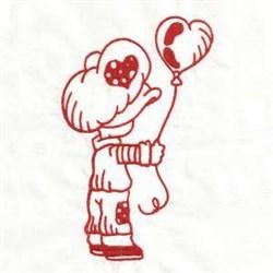 Redwork Valentine embroidery design