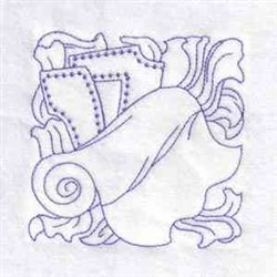 Redwork Sewing Block embroidery design