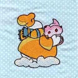 Chef Snowman embroidery design