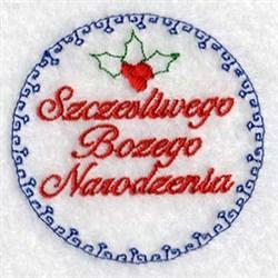 Szczesliwego Bozego Narodzenia embroidery design
