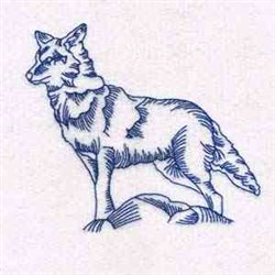 Wolf In Moonlight embroidery design